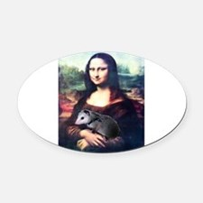 monalisa2acd.png Oval Car Magnet