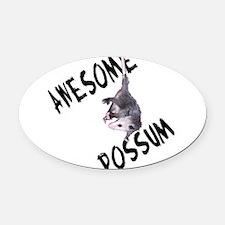 possum32a.png Oval Car Magnet