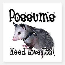 "possum34.png Square Car Magnet 3"" x 3"""