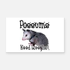 possum34.png Rectangle Car Magnet