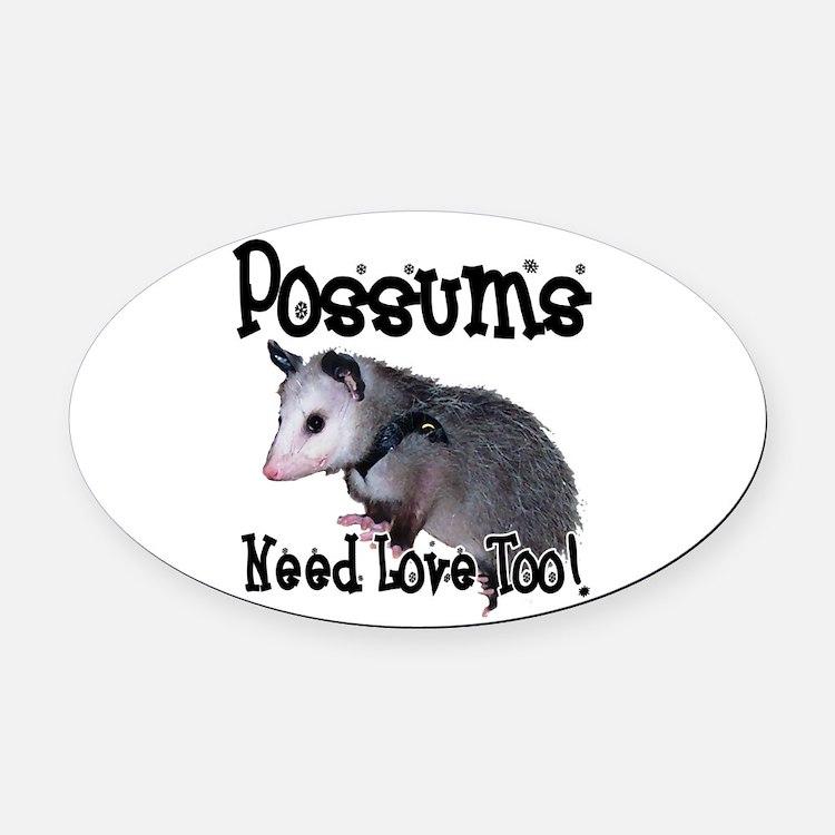 possum34.png Oval Car Magnet