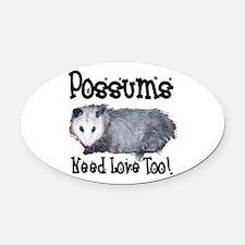 possum33.png Oval Car Magnet
