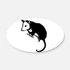 possumsil2b.png Oval Car Magnet
