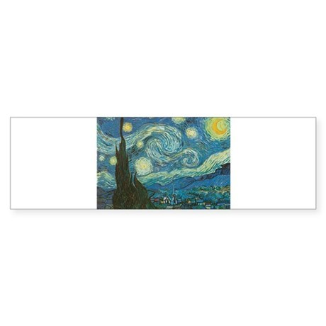 Van Gogh Starry Night Sticker (Bumper)