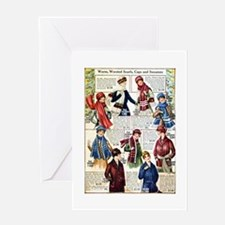 1910s Winter Scarves Greeting Card