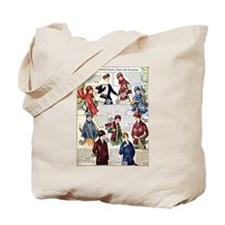 1910s Winter Scarves Tote Bag
