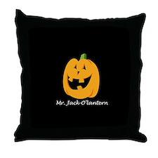 Mr. Jack O'lantern Throw Pillow