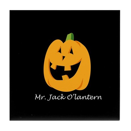 Mr. Jack O'lantern Tile Coaster