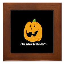 Mr. Jack O'lantern Framed Tile