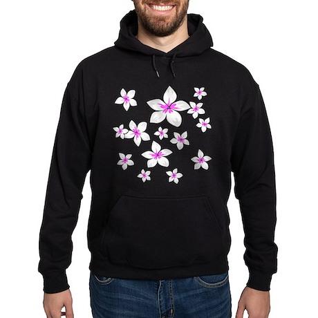 cute bright pink frangipani floral design Hoodie (
