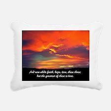Love Faith Hope Rectangular Canvas Pillow