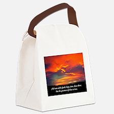 Love Faith Hope Canvas Lunch Bag