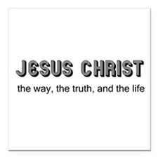 "Jesus is the Way Square Car Magnet 3"" x 3"""