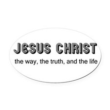 Jesus is the Way Oval Car Magnet