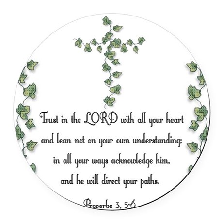 Proverbs Round Car Magnet