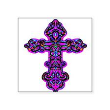 "cross26e.png Square Sticker 3"" x 3"""