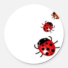 Ladybugs Round Car Magnet