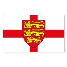 England Sticker w/ Coat of Arms (Rectangular)