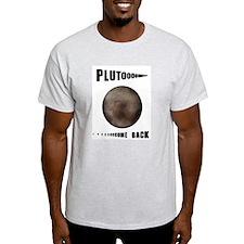 Pluto Come Back Ash Grey T-Shirt