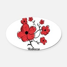 Personalized Modern Red and Black Floral Design Ov