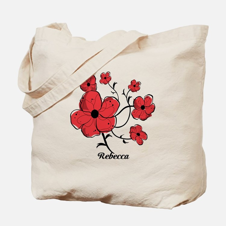 Personalized Modern Red and Black Floral Design To