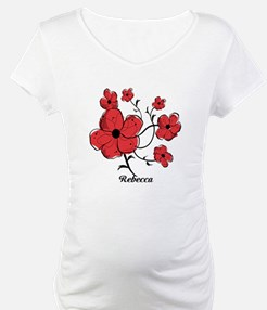 Personalized Modern Red and Black Floral Design Ma