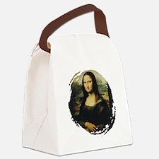 mona lisa Canvas Lunch Bag