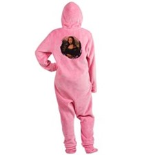 mona lisa Footed Pajamas