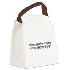 keepchange1.png Canvas Lunch Bag
