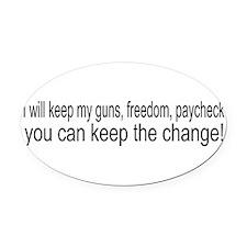 keepchange1.png Oval Car Magnet