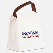 votechrist1e.png Canvas Lunch Bag