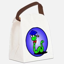bookworm1.png Canvas Lunch Bag