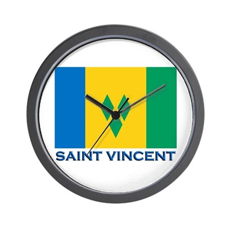 Flag of Saint Vincent Wall Clock