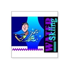 "waterski.png Square Sticker 3"" x 3"""