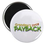 Grandmas Little Payback - White Magnet
