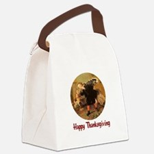 turkey3b.png Canvas Lunch Bag