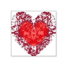 """heart9a1.png Square Sticker 3"""" x 3"""""""