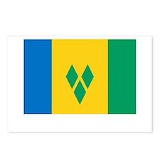 Saint Vincent Flag Picture Postcards (Package of 8