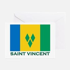 Saint Vincent Flag Stuff Greeting Cards (Package o