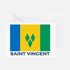 Saint Vincent Flag Gear Greeting Cards (Package of