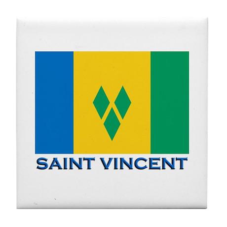 Saint Vincent Flag Gear Tile Coaster