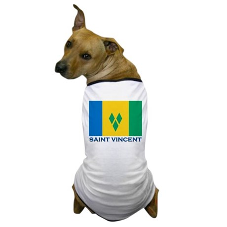 Saint Vincent Flag Gear Dog T-Shirt