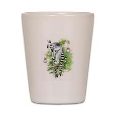 Lemur HOLIDAY Up A Tree Shot Glass
