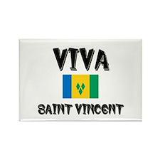 Viva Saint Vincent Rectangle Magnet