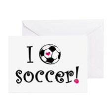 I Love Soccer Greeting Cards (Pk of 10)