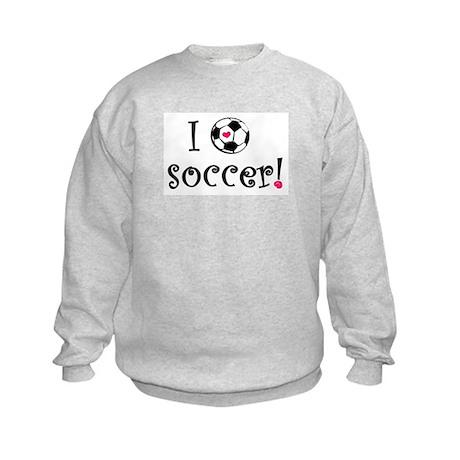 I Love Soccer Kids Sweatshirt