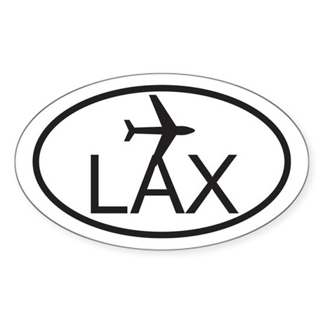 los angeles airport.jpg Sticker (Oval)