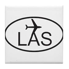 las vegas airport.jpg Tile Coaster
