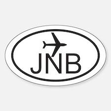 johannesburg airport.jpg Sticker (Oval)