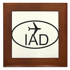 dulles airport.jpg Framed Tile